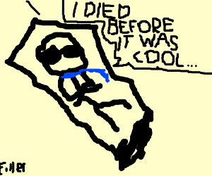 Hipster corpse