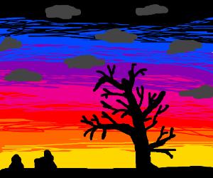 Semi-cloudy sunset