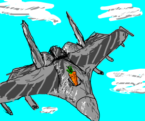 Carrot becomes a fighter pilot