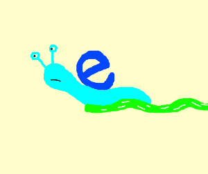 Internet Explorer Slug Goes Slow