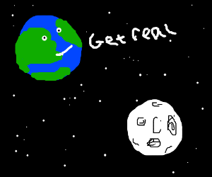 Earth gets REAL with the moon.
