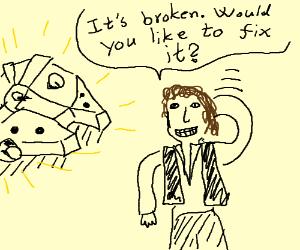 The Millennium Falcon needs a repair