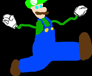 Luigi skipped arm day again.