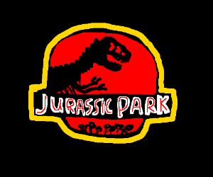 "A movie poster from ""Jurassic Park"""