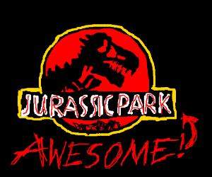 awesome jurassic park logo!