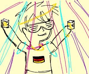 German disco party