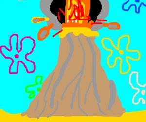 The Bikini Bottom's volcano