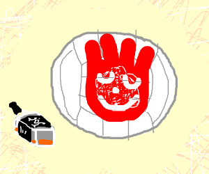Wilson the volleyball gets drunk