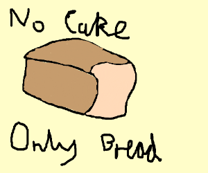 there is no cake