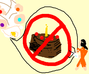 """""""The cake is a lie"""" line with Chell and GladOS"""