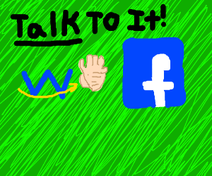 Walmart smile tells facebook: talk to the hand