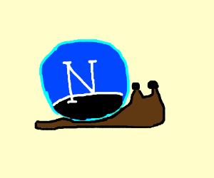 Netscape-powered snail