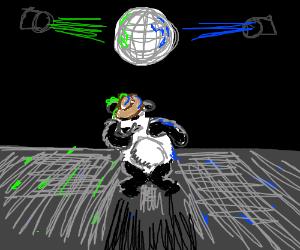 The funkiest panda at the disco gettin down!