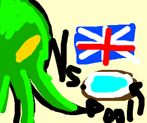 Flash Cthulu Attacks British Kiddie Pool