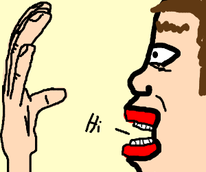 talk to the hand (oh, and Facebook)