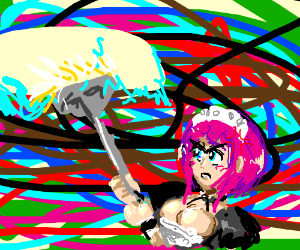 Maid is annoyed to clean panel again.