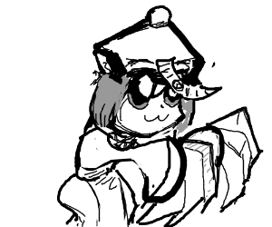 Touhou's Chen cosplaying as Hsien ko