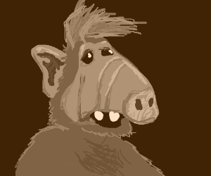 Portrait of Alf done with a smartphone