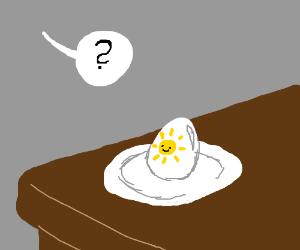 Eggs served sunny-side up! :-D