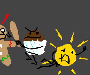 Jack*ss muffin beats up the sun