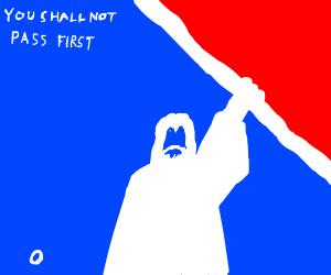 Gandalf playing baseball