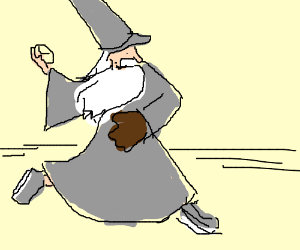 Gandalf gets turned into a baseball player