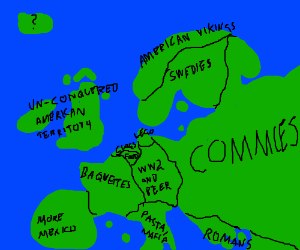 Europe map made by Americans