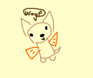 Chihuahua with goldfish arms