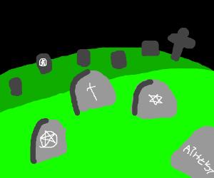 Multi-faith cemetery.