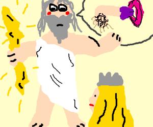 Zeus gives Athena the talk