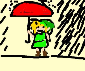 Deku Link doesn't like rain