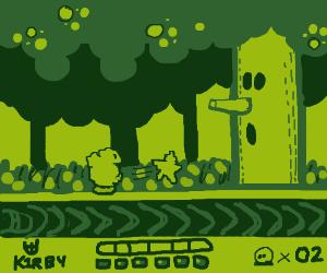 Kirby against that apple tree boss