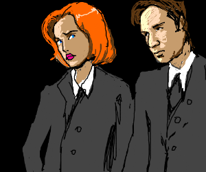 Dana Scully is skeptical at Mulder