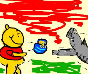 Winnie the Pooh vs oldschool Cybermen.
