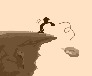 Throwing a turkey off the cliff