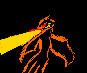 Phoenix breathes fire at you