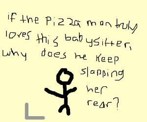 stick man watching the no-no on a computer