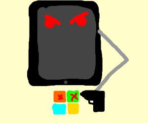 Ipad killed microsoft logo