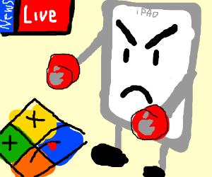 breaking news giant ipad destroying microsoft