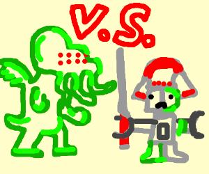 Cuthulu vs Robot Samurai Zombie