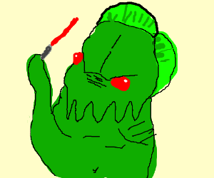 cthulu tries to eat lightsaber