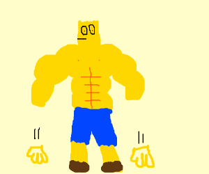 Bart Simpson got buff and his hands fell off.