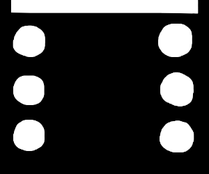bottom half of domino...six