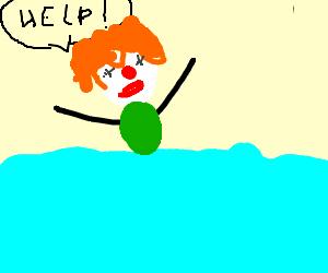 Clown can't swim