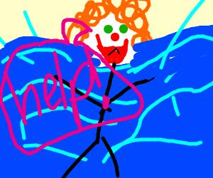 Drowning clown
