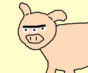 A Pig Wtih Three Eyes Drawception