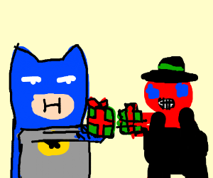 The batman traded with the swiss commiebot