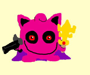 demon jigglypuff/metaknight with guns