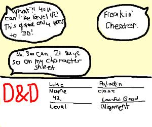 Paladin Luke is level 42
