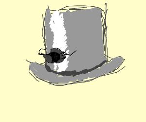 Monopoly top hat doffs hat